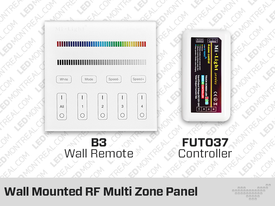 rf multi zone panel and-or controller for rgb led strips