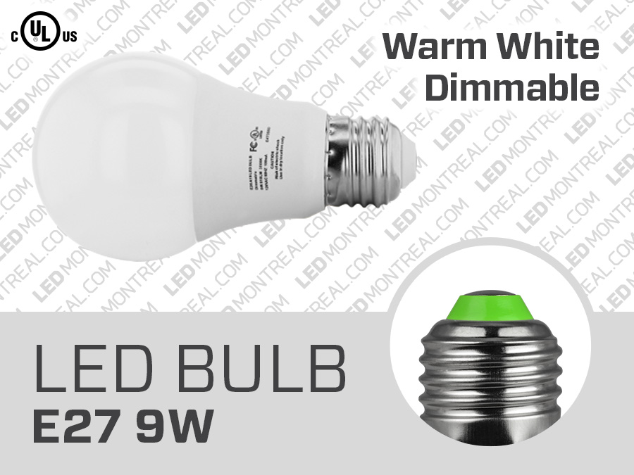 Dimmable Format Montreal Led E27 Ampoule A19 SpqUzMVG