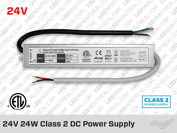 24V iP67 Hard Wired Class2 LED Drivers 24W