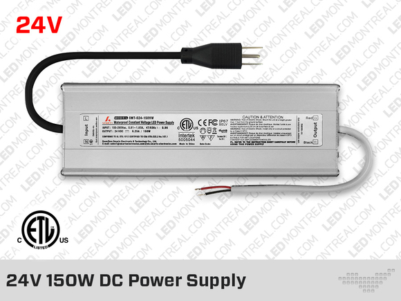 24V DC iP67 Indoor / Outdoor LED Driver 150W
