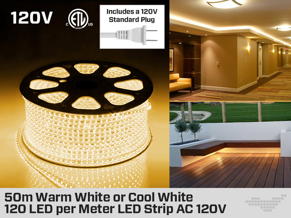 LED Strip Cool White or Warm  White  or Cool White 50 Meter