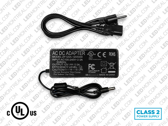 12V 5A (60W) Power supply for LED Strips