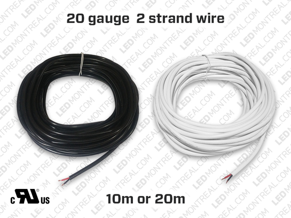 Single Color Wire for LED Strips (10 or 20 meter)