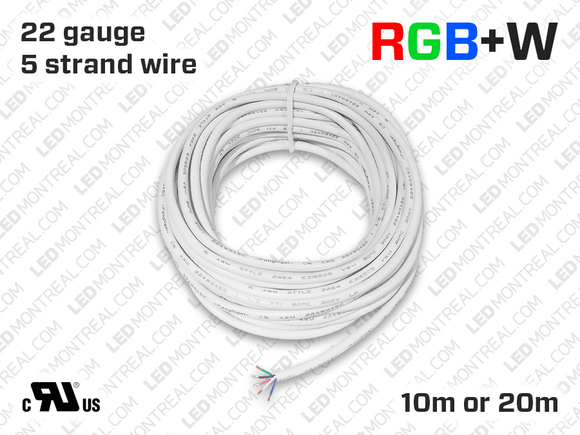 RGBW Wires for LED Strips (10 to 20 meter)