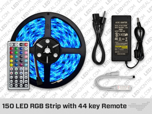 RGB LED Strip with 44 Key Remote (150 LED)