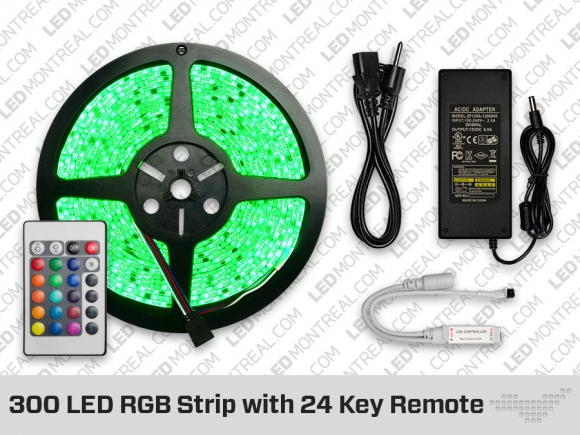 300 LED Epistar LED Strip with 24 Key Remote