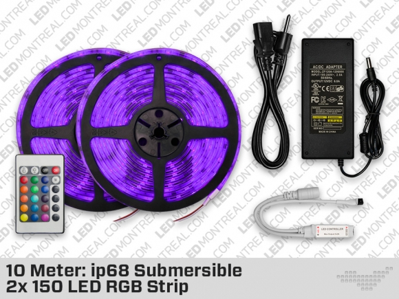 10 Meter Submersible ip68 150 LED RGB Strip