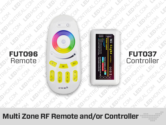 RF Multi Zone Remote and Controller for RGB+W LED Bulbs and Strips