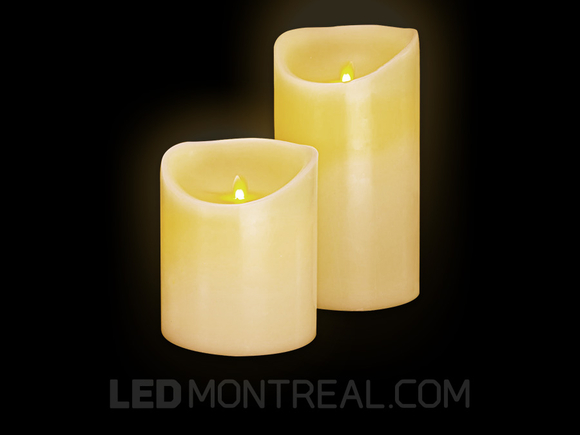Two Flameless LED Wax Candles with Timer