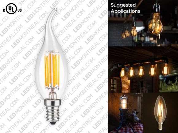 A19 E27 LED Filament Light Bulb