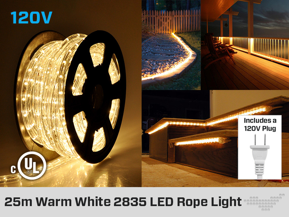 Rope Light Cool White or Warm White 25 Meter