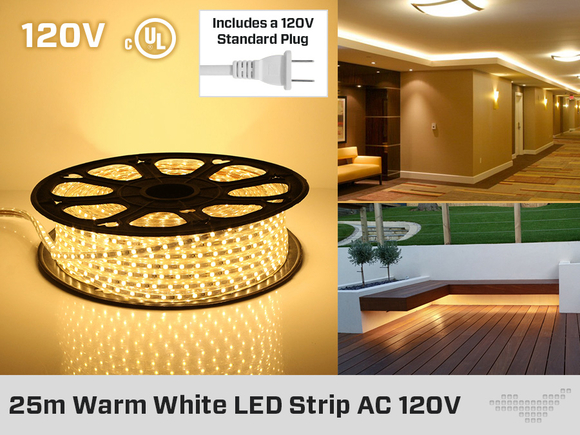 LED Strip Cool White or Warm  White  or Cool White  25 Meter
