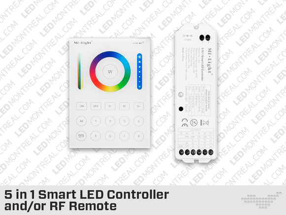 Wall Mounted RF Multi Zone Panel and-or Controller for RGB