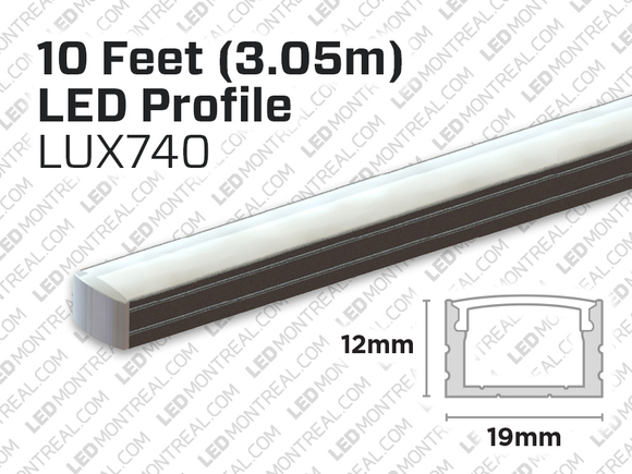 10 foot interior and exterior aluminum profile for LED Strip