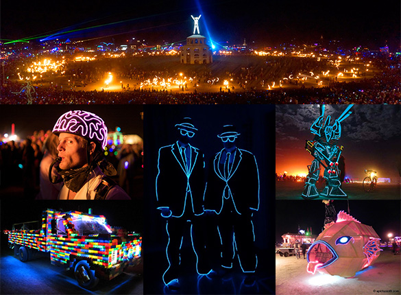 Burning Man - LED Montreal