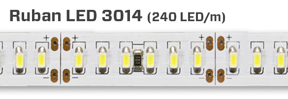 3014, 240 LED au mètre
