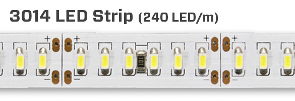 240LEDS per meter, constant white