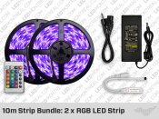 10 Meter LED Strip Bundle: 2 x RGB LED Strip