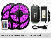 20 meter Sound control RGB LED Strip Kit