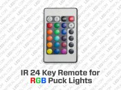 24 Key Remote and Controller for RGB LED Strips