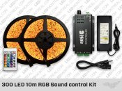 300 LED 10 meter Sound control RGB LED Strip Kit