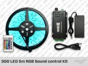 300 LED 5 meter Sound control RGB LED Strip Kit