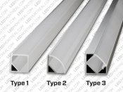 1M Wide Angle V-Shape Aluminium Bar for LED Strips