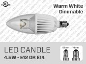 4W Dimmable COB LED Candle E12, E14