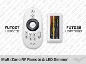 FUT007 RF Multi Zone Remote and-or FUT036 Controller - Single Color