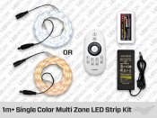 RF Multi Zone 1 to 5 meter Single Color 5050 Epistar LED Strips Kit