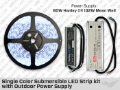 IP68 Single Color LED Strip Kit with Mean Well Outdoor Driver
