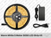 Single Color Warm White 5 Meter 5050 LED Strip Bundle