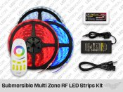 Submersible ip68 Multi Zone RF LED Strips