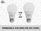 Ampoule LED E27 Dimmable format A19 ou A21