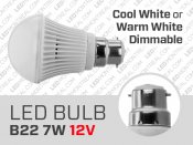7W 12V Dimmable B22 LED Light Bulb