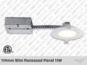 114mm Slim recessed panel 11W