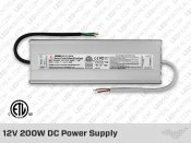 12V DC iP67 Indoor / Outdoor LED Driver 200W