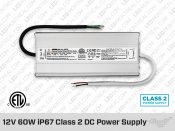 12V DC iP67 Indoor / Outdoor LED Driver 60W (5A)