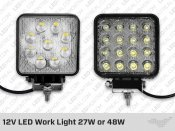 12V LED Work Light 27W or 48W