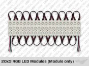 Set of 20+ ip65 5050 RGB LED Modules ( 0.72W per Module )