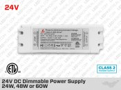 24V Universal Dimmable LED Driver 24W 48W 60W (Class 2)