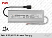 24V DC iP67 Indoor / Outdoor LED Driver 250W