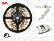 24V 5m iP20 Bendable 2835 White LED Strip - 60 LEDs/m (Strip Only)