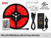 24V 5m iP20 High Output RGB 5050 LED Strip Kit - 30 LEDs/m