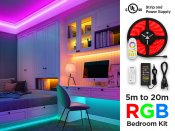 24V 5m iP20+ High Output RGB 5050 LED Strip Kit - 30 LEDs/m