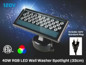 40W 20° RGB LED Wall Washer Spotlight (33cm)