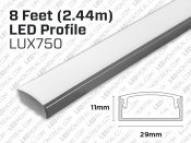 8 feet, 1.1 inch wide aluminum U shape profile for LED Strip