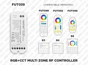 1 to 8 Zones Self repeating RF RGB LED controller (FUT 039) - LED Montreal