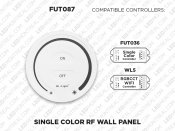 1 Zone RF Wall Remote for Single Color (FUT087)