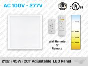 45W 2'x2' LED Light Panel CCT Adjustable